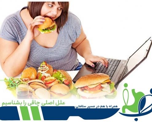 علل چافی - درمان چاقی - دلایل چاقی